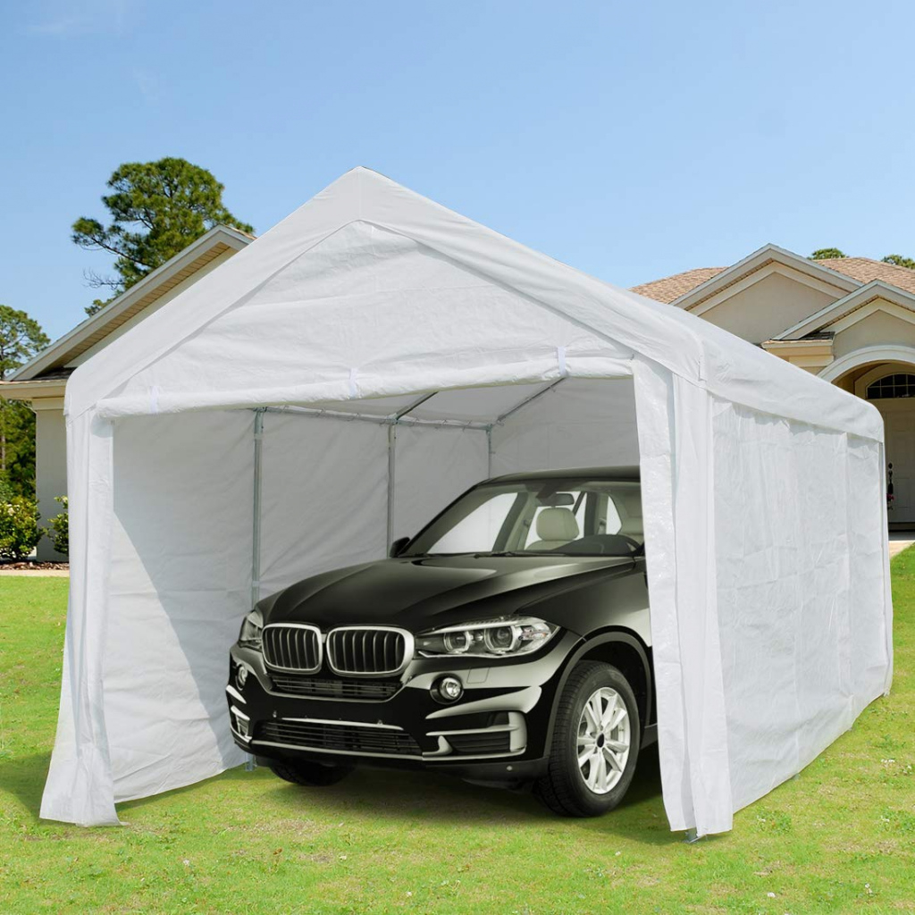 10 X 20 Ft Heavy Duty Carport Canopy Car Garage Shelter With Removable  Sidewalls And Doors  Buy Heavy Duty Carportcar Garagecar Shelter Product  On Picture Example in 10 X 20 Canopy Carport