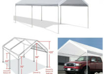 10' X 20' Portable Heavy Duty Canopy Garage Tent Carport Car Shelter Steel  Frame Picture Example of Metal Steel Carport Shelter Garage Canopy