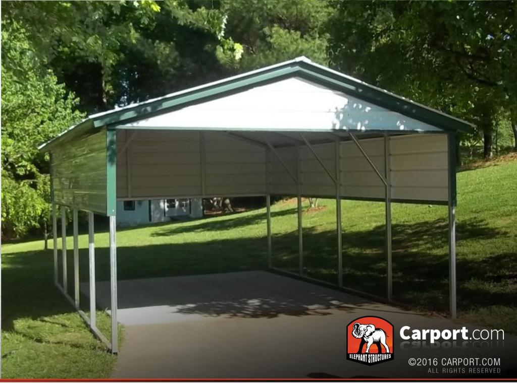 12' X 21' Carport For Single Car Image Example for How To Repair Metal Carport Roof