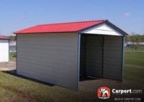 12' X 21' Vertical Roof 1 Car Metal Carport Picture Sample of 12 X 21 Metal Carport