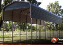 12' X 36' Rv Carport Regular Metal Roof Facade Example for Metal Carport For Camper
