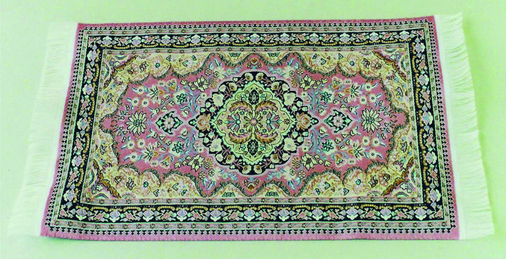12Th Scale Dolls House Turkish Carpet 150Mm X 230Mm Picture Sample for Dolls House Carpet