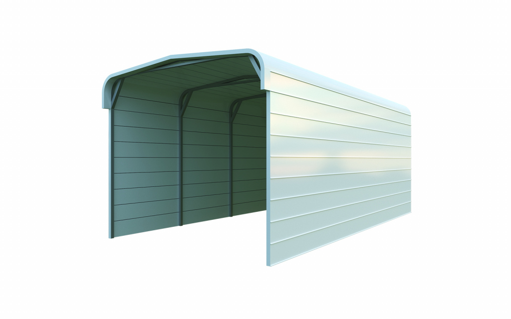 12X20 Metal Carport Package Quick Prices  General Steel Shop Image Example in Metal Carport 12X20