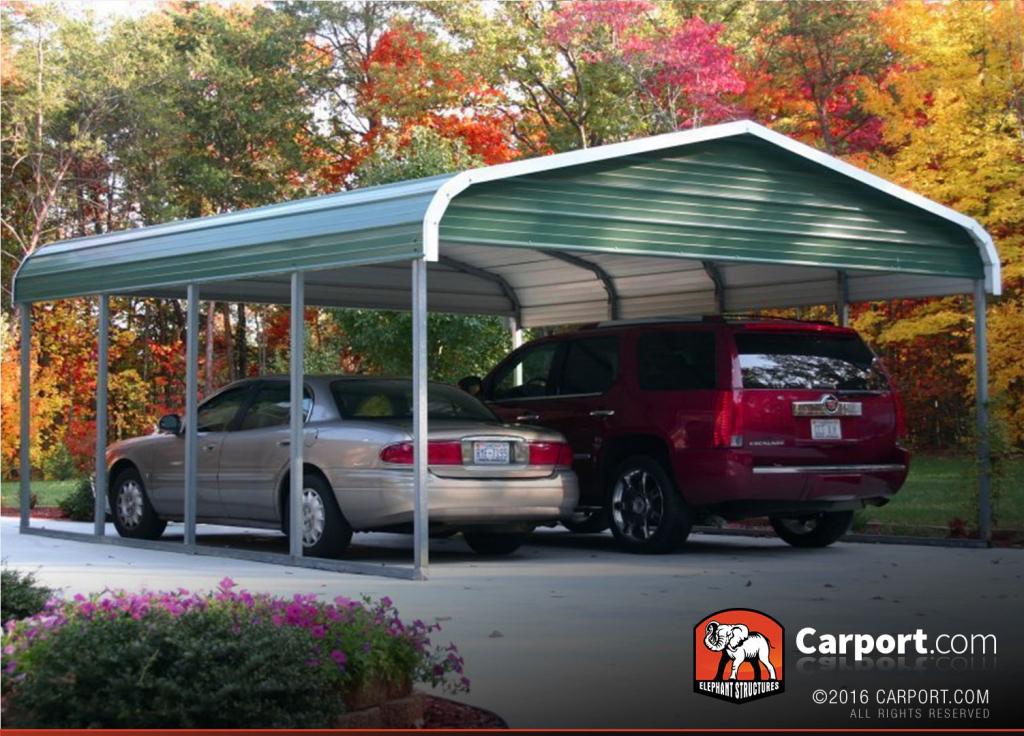 12X26 Carport For Single Car Regular Roof Picture Sample in How To Repair Metal Carport Roof