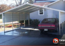 18' X 21' 2 Car Boxed Eave Carport Picture Example of 18 X 18 Metal Carport