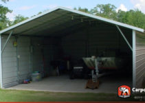 18' X 21' Two Car Boxed Eave Carport Facade Sample for 18X21 Enclosed Carport