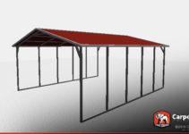 18' X 21' X 6' Sturdy Vertical Roof Metal Carport Picture Sample of Vertical Roof Metal Carport