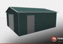 18' X 21' X 8' Fully Enclosed Metal Workshop Building Picture Sample for Fully Enclosed Carport