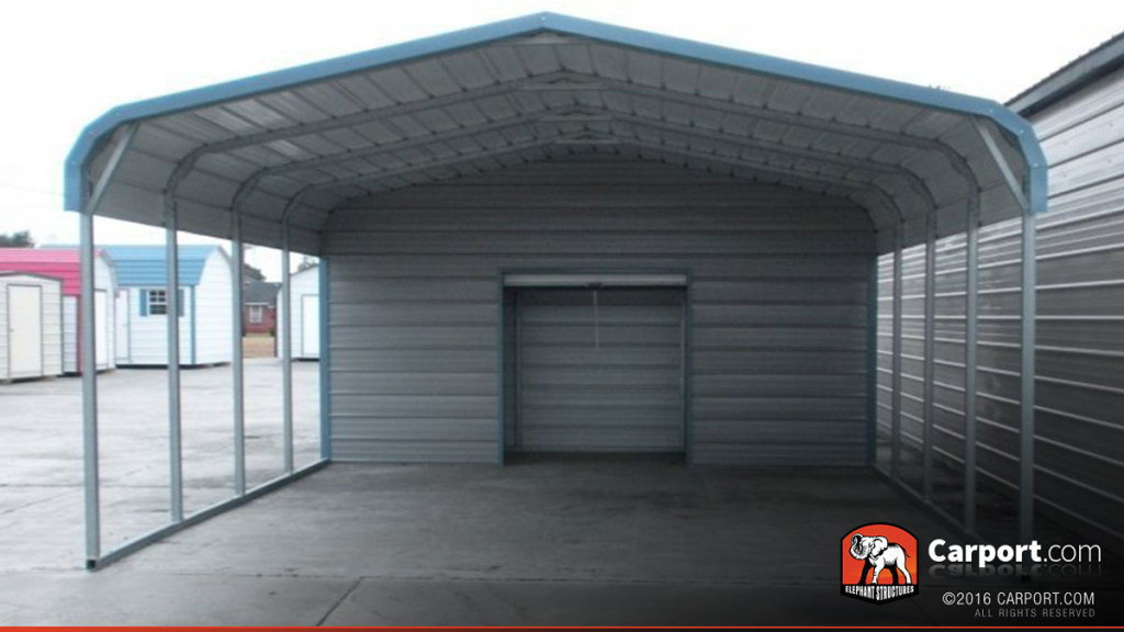 18' X 26' 2 Car Metal Carport Picture Example of Enclosed Carport Kits