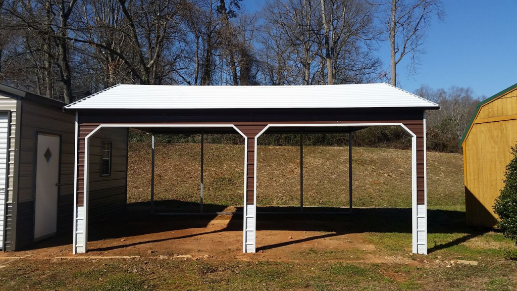 18X21X8 Boxed Eave Carport  Express Carports Picture Example of Metal Carport Rent To Own