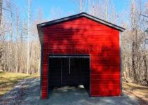 18'x30' Vertical Roof Style Metal Building  18X30 Metal Garage Picture Sample of 18X30 Metal Carport