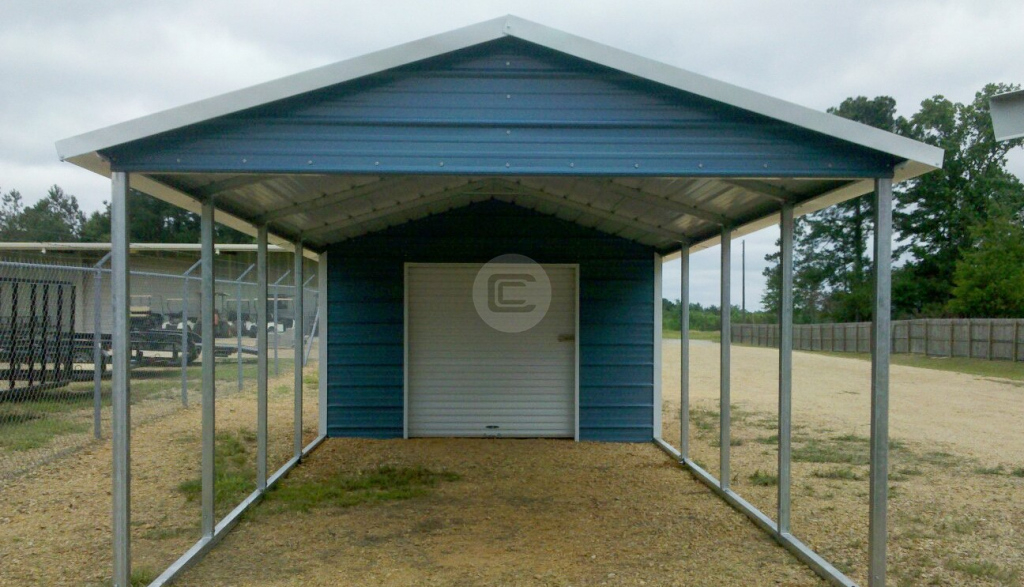 18X31 – Carport Utility Picture Sample of Metal Carport Barn