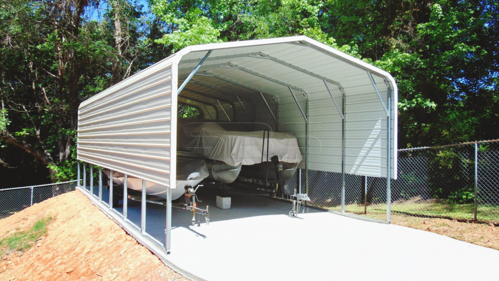 18X36 Steel Boat Carport Picture Example for Metal Carport Rent To Own