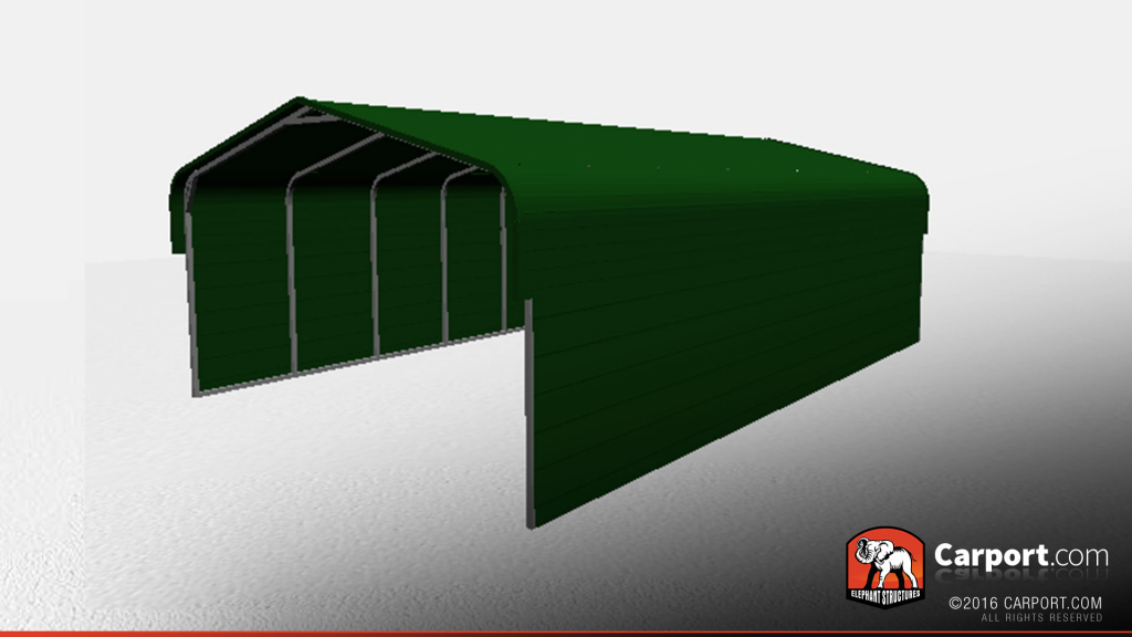 20' X 31' X 8' Strong Metal Carport With Closed Sides Picture Example in Steel Carport With Sides