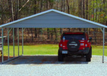 20'x21' Boxed Eave Metal Carport Picture Example of 20 X 21 Metal Carport