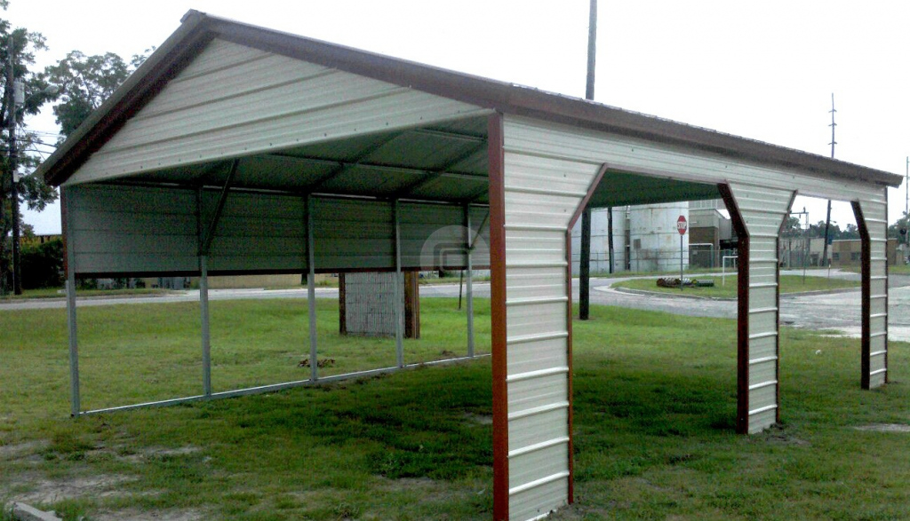 20X21 Carport Photo Example for Metal Carport Barn