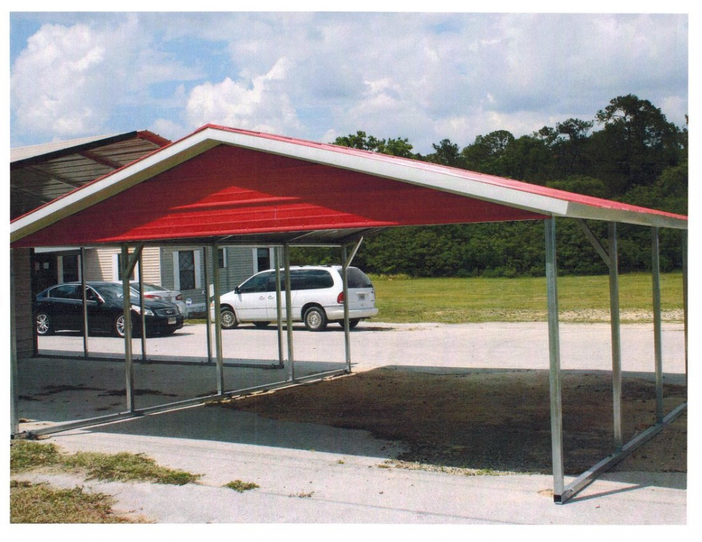 20X21X7 Boxed Eave Carport  Express Carports Facade Example of Metal Carport Rent To Own