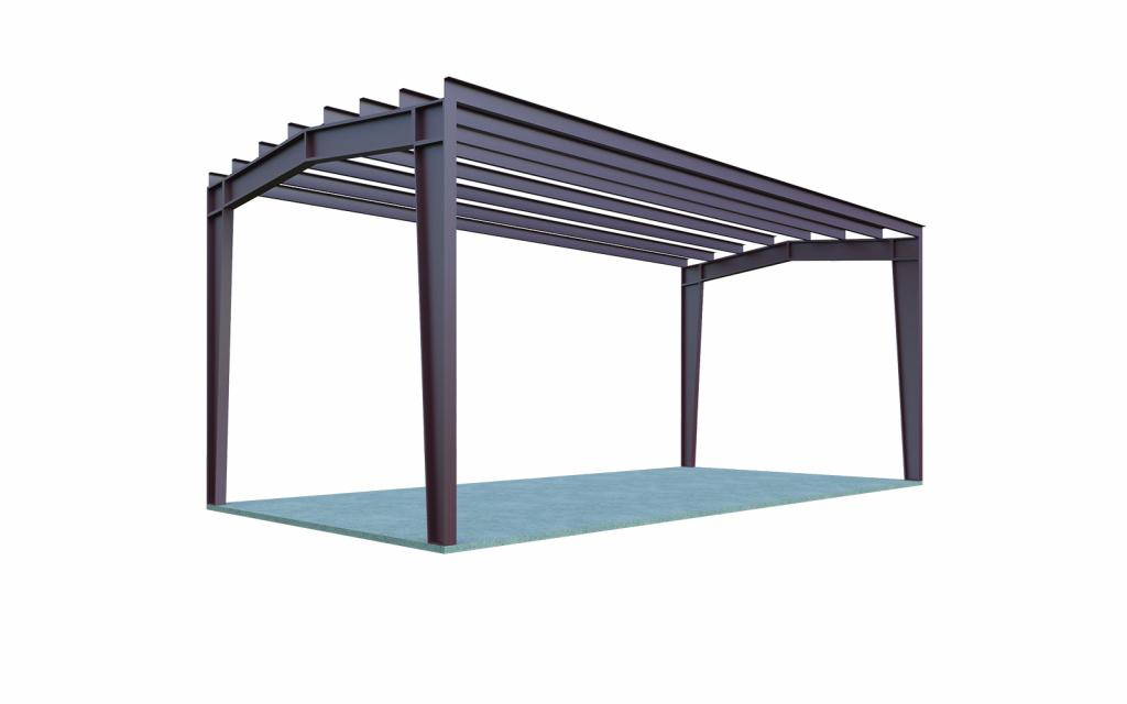 20X24 Metal Carport Extra Storage  General Steel Shop Facade Example in How To Build Metal Carport
