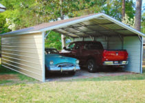 20X26 Two Car Metal Carport Picture Example for 20X26 Metal Carport