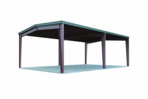 20X30 Carport Perfect For Cars Or Motorhome  General Steel Facade Sample of Metal Carport 20 X 30