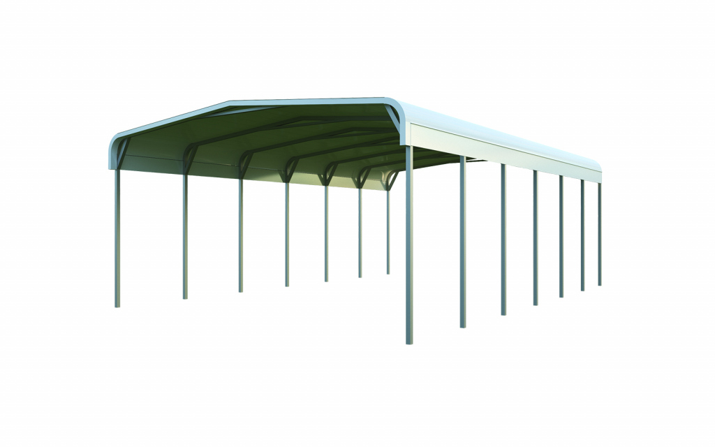 20X30 Tube Frame Carport Package Quick Prices  General Photo Sample in Metal Carport 12X20