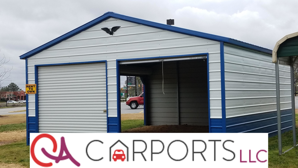 22X26X9 Vertical Garage – Ca Carports Photo Sample of Metal Carport Rent To Own
