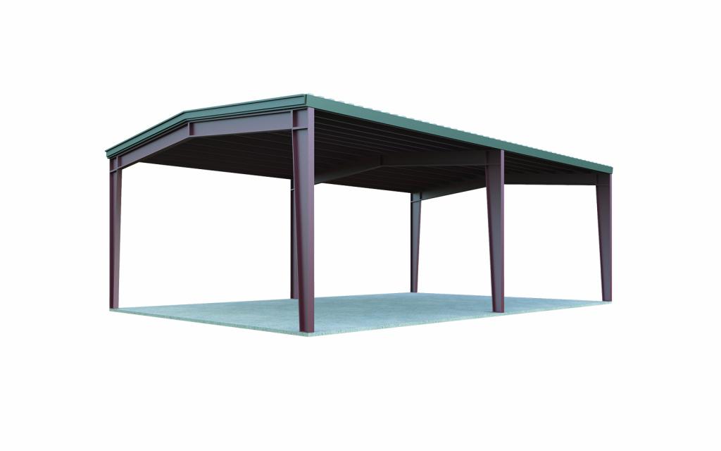 24 X 30 Carport Image Example for 30X30 Metal Carport