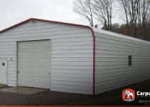 24' X 36' Metal Garage With Regular Style Roof Image Sample in 24X36 Metal Carport