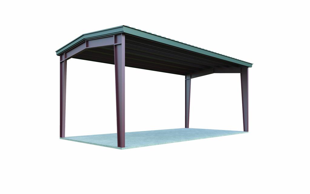 24X24 Metal Carport  General Steel Shop Facade Example for Metal Carport For Sale