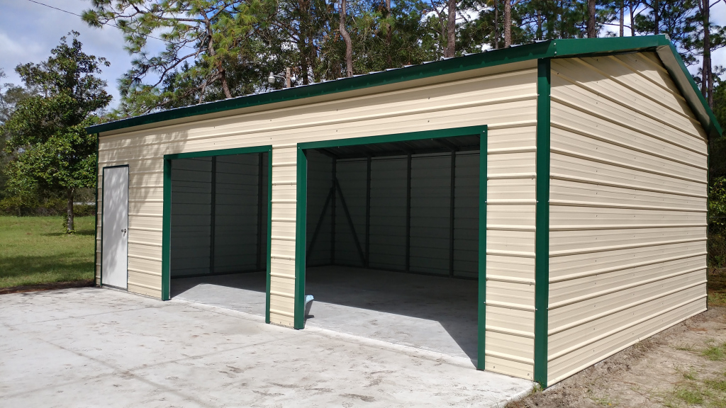 24X40 Steel Building  Central Florida Steel Buildings And Photo Example in 24X40 Metal Carport