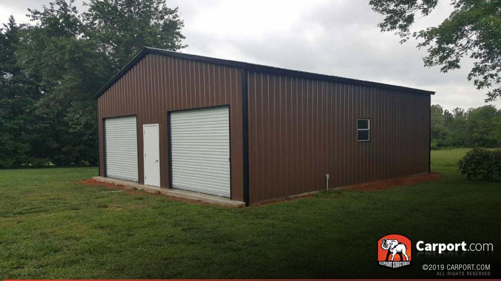 30' X 36' X 10' Twodoor Garage Image Sample for 30 X 36 Metal Carport