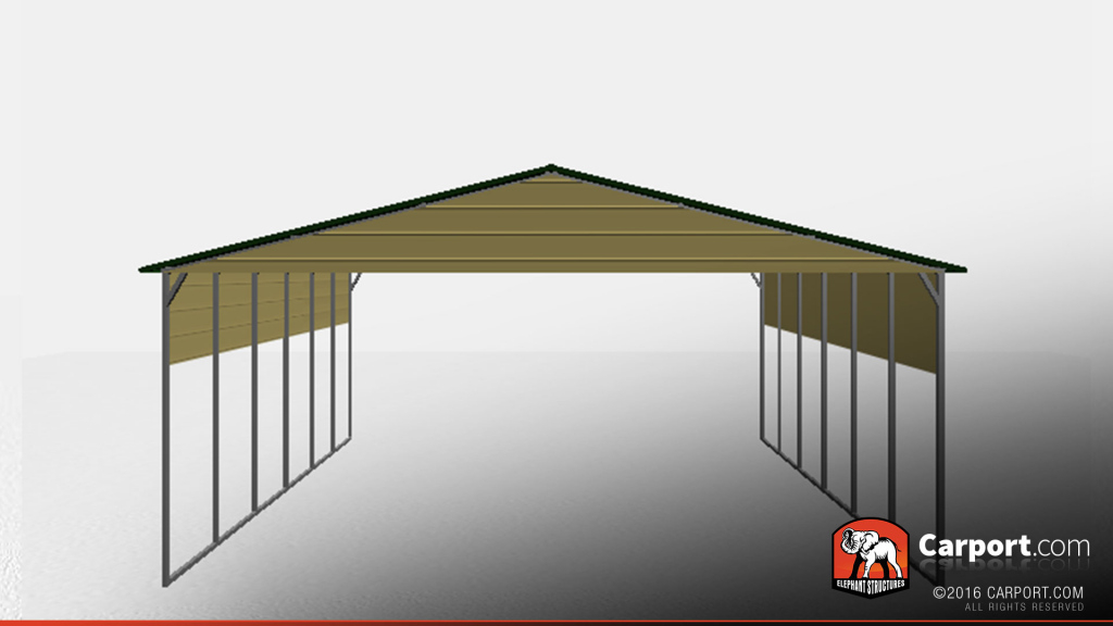 30' X 40' Top Quality Boxed Eave Car Port Facade Sample for Diy Carport Kit Prices