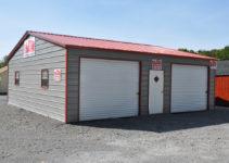 30'x31' 2 Car Garage Facade Sample of All Steel Carport