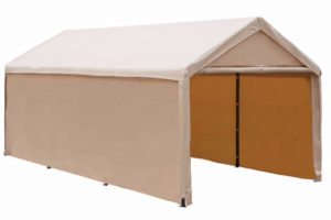 Abba Patio 10X20 Ft Heavy Duty Beige Carport Car Canopy Image Example of 10X20 Canopy Carport With Sidewalls