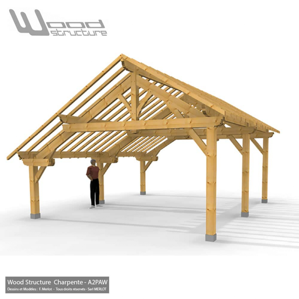 Abris 2 Pans Paw 68 X 66 Picture Example of Wood Frame Carport Plans