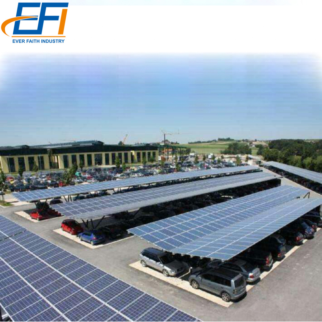 Ad Carport Solar Pv Montage Struktur Stahl Solar Carport Mit Aluminium  Rahmen Photo Example in Diy Solar Carport Kit