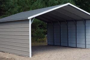 Aframe Horizontal Carports  Siram Metal Buildings Facade Sample in Metal Carport Frame