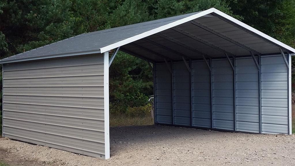 Aframe Horizontal Carports  Siram Metal Buildings Picture Example for Enclosed Metal Carport