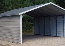 Aframe Horizontal Carports  Siram Metal Buildings Picture Sample of Enclosed Carport Vs Garage
