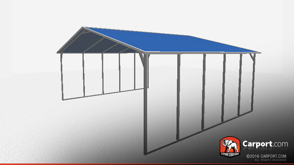 Aframe Steel Carport Triple Wide Photo Sample in Metal Carport With Shop