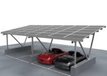 Aluminum Cantilever Solar Carportsolar Awning Kitsolar Carport Lighting   Buy Cantilever Solar Carportsolar Awning Kitsolar Carport Lighting Facade Example in Cantilever Solar Carport
