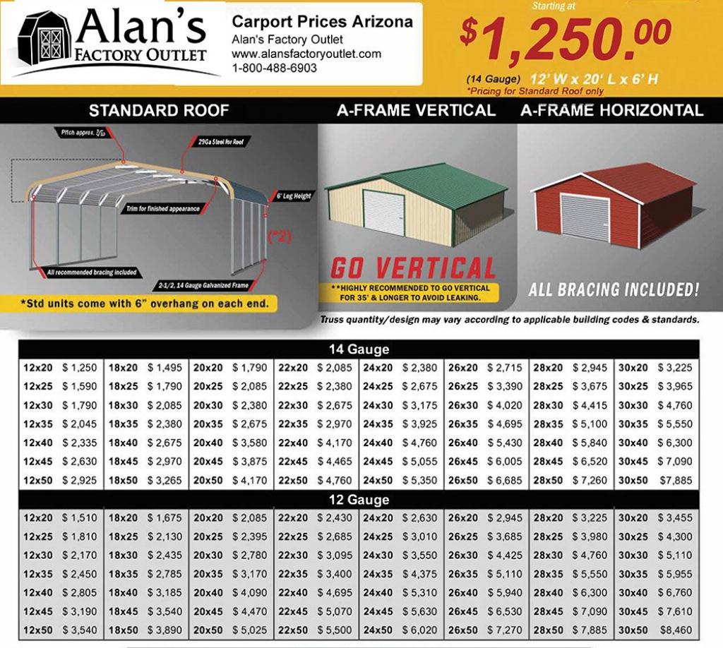 Arizona Az Carports Metal Garage Prices Facade Example for Metal Carport Prices