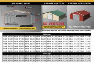 Arizona Az Carports Metal Garage Prices Facade Sample in Metal Carport Pricing