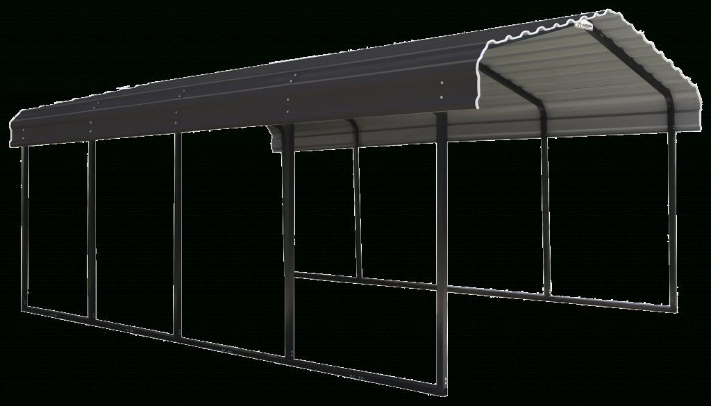 Arrow 20 X 20 29Gauge Metal Carport With Steel Roof Panels Picture Example in Metal Carport Panels