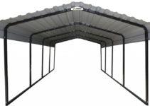 Arrow Blackeggshell Steel Carport Picture Sample for Steel Carport Canada