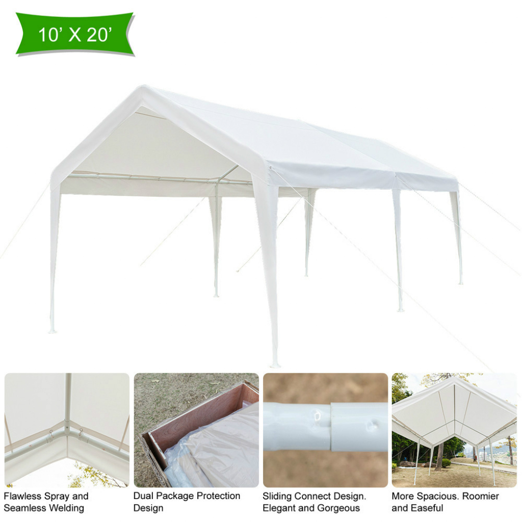 Awnings  Canopies Heavy Duty Portable Garage Canopy Tent 10 Image Sample for Carport Canopy 10X20