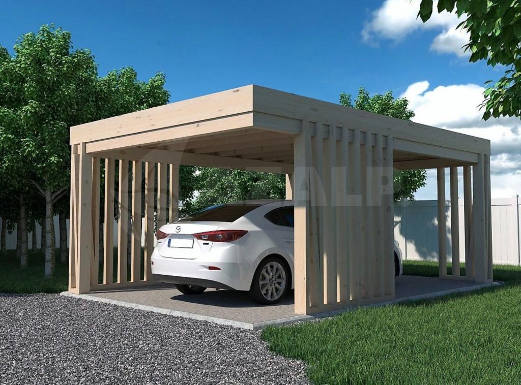 Azalp Carport Pinchos 300X600 Cm Image Sample for 30X30 Metal Carport