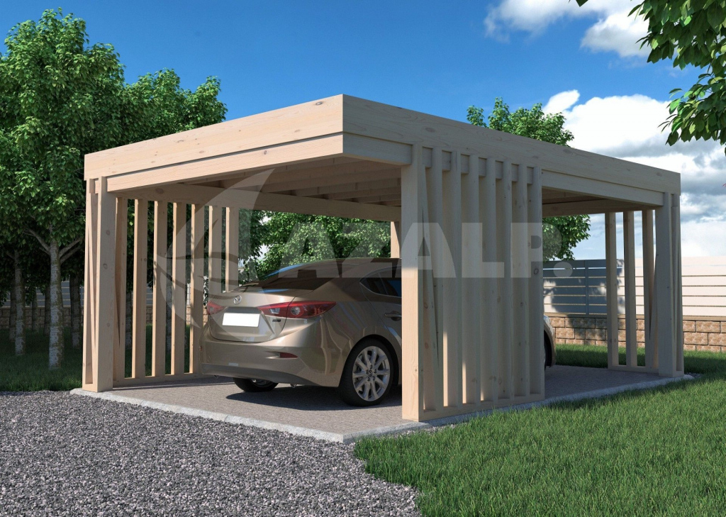 Azalp Carport Pinchos 300X600 Cm Picture Sample for 30X30 Metal Carport