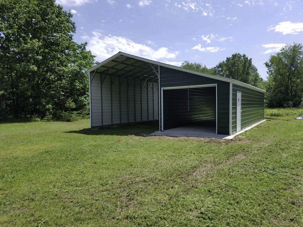 B01 30X40X128 Barn Wleanto Photo Sample of Metal Carport Barn