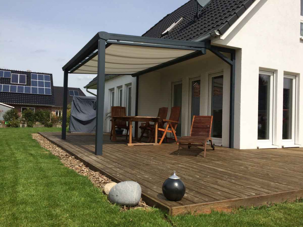 Basic Terrassendach  Angebot In Nur 3 Minuten Selber Generieren Photo Example for House With Carport On Side